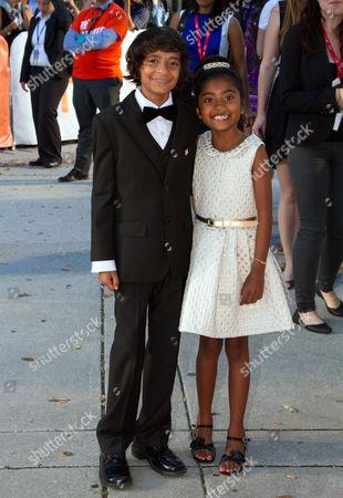 Stock Picture of Mateen Devji and Maya Samy