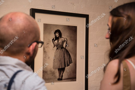 Editorial image of 'Matilda Temperley - The Ugly Cards', exhibition launch, Cock N Bull Gallery, London, Britain - 05 Sept 2013