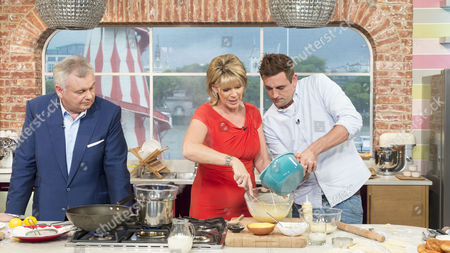 Eamonn Holmes Ruth Langsford with Aaron Craze