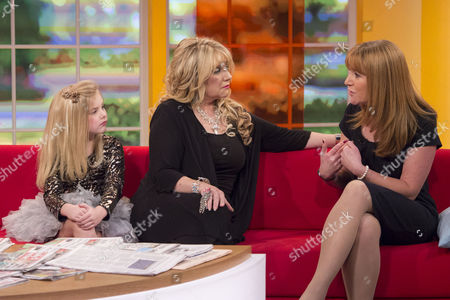 Eden Wood and Mickie Wood with Angela Epstein