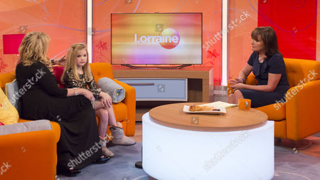 Mickie and Eden Wood with Lorraine Kelly