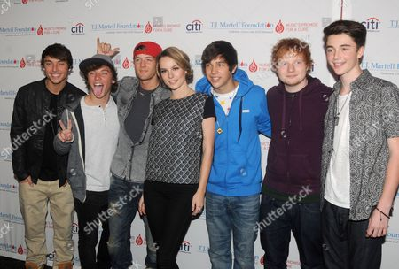 Wesley Stromberg, Keaton Stromberg and Drew Chadwick, Bridgit Mendler, Austin Mahone, Ed Sheeran and Greyson Chance