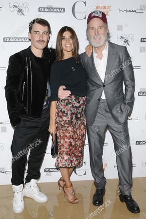 Fabien Constant, Carine Restoin-Roitfeld and Aiden Shaw