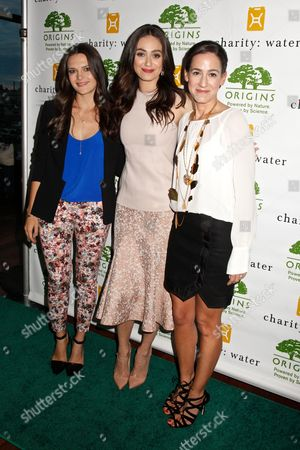 Viktoria Harrison, Emmy Rossum and Jane Lauder