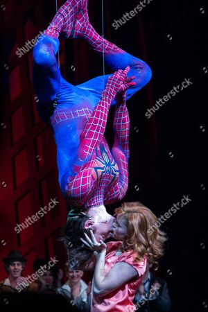Editorial picture of 'Spider-Man: Turn Off The Dark' play, New York, America - 16 Sep 2013