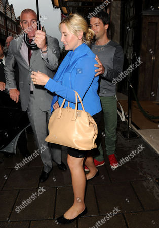 Editorial image of Kate Winslet and Ned Rocknroll out and about, London, Britain - 17 Sep 2013