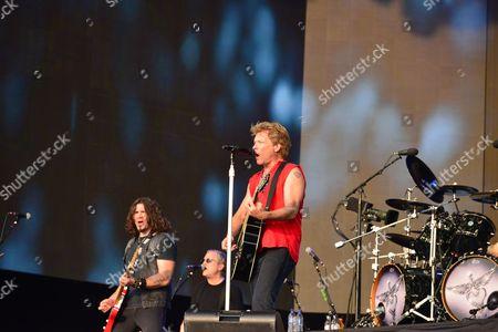 Stock Photo of Dave Sabo Hugh Mcdonald Jon Bon Jovi