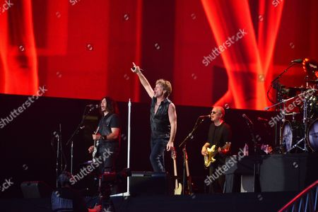 Stock Picture of Dave Sabo Jon Bon Jovi Hugh Mcdonald