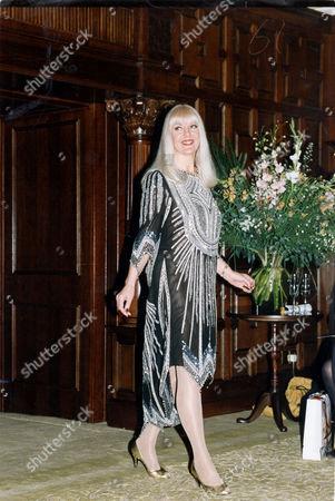 Editorial image of Actress Aimi Macdonald At The Zanda Rhodes Fashion Show 1992.