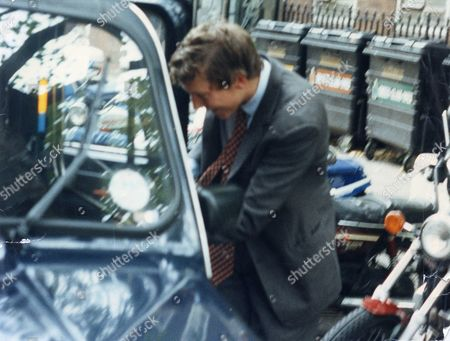Hon. Nathaniel Rothschild Son And Heir Of 4th Baron Rothschild (not Shown) Getting Into A Car After Being Sentenced On A Drink-driving Offence 1992.