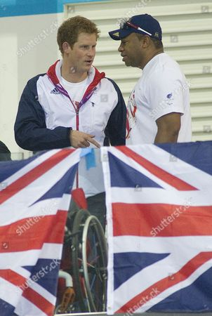 Prince Harry Meets Team Gb Discus Thrower Derek Derenalagi.