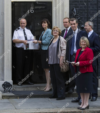 Picture Shows Mp's Including From Left Claire Perry Fiona Mactaggart David Burrows And Andrew Selous Arriving At Downing Street Today With A Petition Requesting A Block On Pornographic Websites.