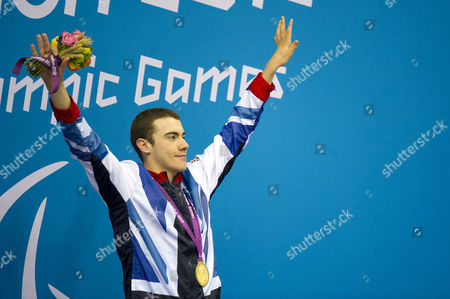 Nws-lry- Paralympics Swimming Aquatics Centre Olympic Park Stratford. Josef Craig Competes In The Men's 400m Freestyle S7 And Wins Gold.