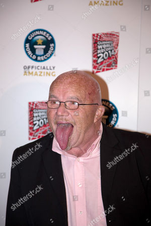 Stock Photo of Stephen Taylor - World's longest tongue