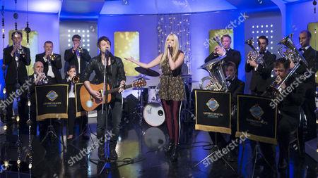 Alistair Griffin, Leddra Chapman and Grimethorpe Colliery Band.