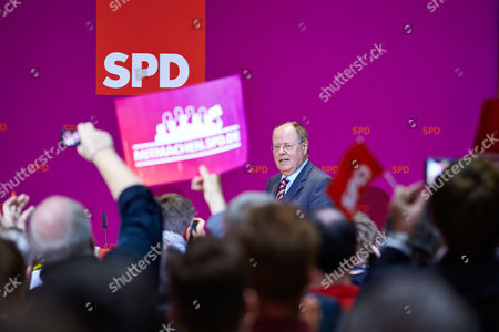 Editorial image of Social Democratic Party members follow the state elections, Berlin, Germany - 15 Sep 2013