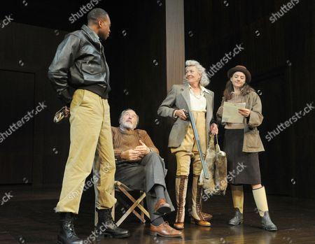 Leroy Osei-Bonsu as a Messenger, Michael Elwyn as Leonato, Vanessa Redgrave as Beatrice, Beth Cooke as Hero