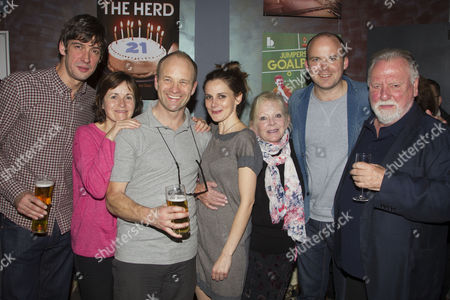 Stock Image of Adrian Bower, Amanda Root, Adrian Rawlins, Louise Brealey, Anna Calder Marshall, Rory Kinnear and Kenneth Cranham
