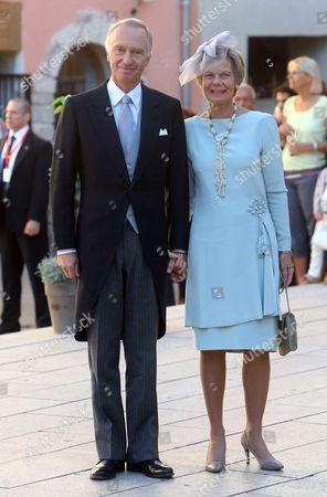 Stock Photo of Archduke Carl Christian of Austria, Archduchess Marie Astrid of Austria