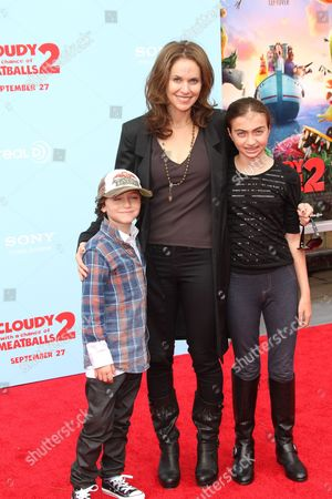 Stock Picture of Amy Brenneman, Bodhi Russell Silberling and Charlotte Tucker Silberling