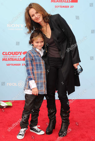 Stock Image of Amy Brenneman with Bodhi Russell Silberling
