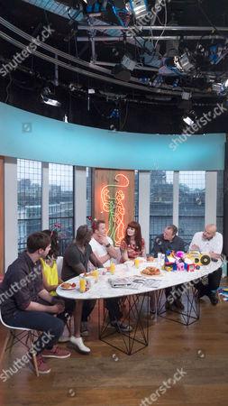 AlunaGeorge - George Reid, Aluna Francis, Martin Offiah, Robert Kazinsky, Ana Matronic, Tim Lovejoy and Simon Rimmer