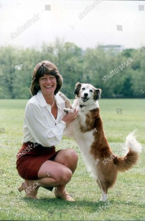 Clare Latimer Former Downing Street Caterer Here With Dog 1994. Pkt2466-169581.