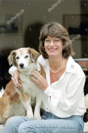 Clare Latimer Former Downing Street Caterer Here With Dog 1994. Pkt2466-169592.