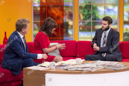 Aled Jones and Lorraine Kelly with Alexander Meleagrou-Hitchen
