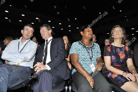 Stock Photo of Steve Coogan, Feargal Sharkey, Baroness Doreen Lawrence, Justine Thornton