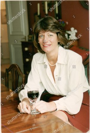 Clare Latimer Former Downing Street Caterer At Home With Red Wine 1994.
