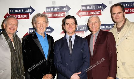 Editorial image of 'Waiting for Godot' and 'No Man's Land' casts at Sardi's, New York, America - 24 Sep 2013