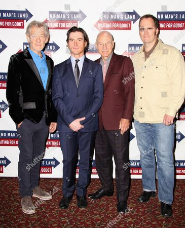 Editorial picture of 'Waiting for Godot' and 'No Man's Land' casts at Sardi's, New York, America - 24 Sep 2013
