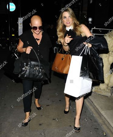 Gail Porter and Sian Welby