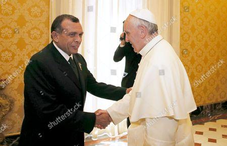 Porfirio Lobo Sosa and Pope Francis I