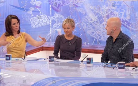 Andrea McLean, Lisa Maxwell and Andy Parsons