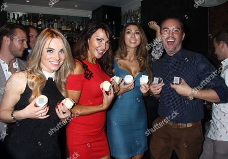 Sian Welby, Lizzie Cundy and Luisa Zissman and Nick Ede