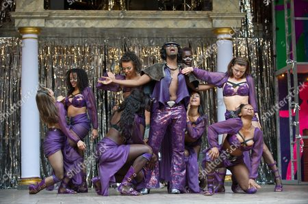 Tommy Coleman as Dionysus, Coral Messam, Cat Simmons, Jess Murphy, Sheila Atim, Moyo Akande, Clemmie Sveeas, Lucia Tong and Sasha Frost as Maenads