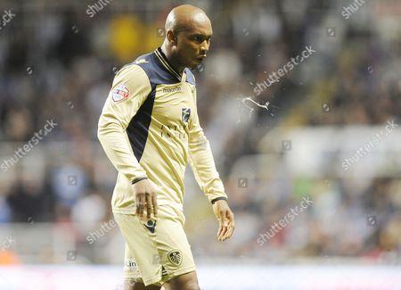 El-Hadji Diouf of Leeds United spits