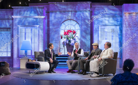 Alan Titchmarsh with The Illusionists - Jeff Hobson, Philip Escoffey and Kevin James.