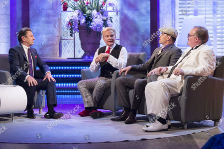 Stock Photo of Alan Titchmarsh with The Illusionists - Jeff Hobson, Philip Escoffey and Kevin James.