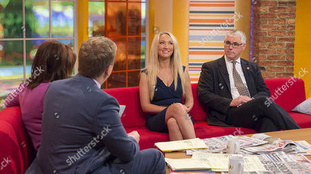 Stock Picture of Aled Jones and Lorraine Kelly with Leah Totton and Nigel Mercer