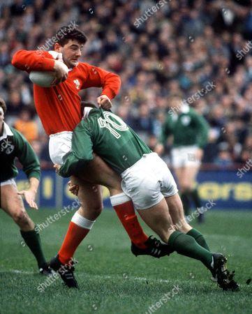 Roland Phillips (Wales) Paul Dean (Ire) Ireland v Wales 5/3/88 Ireland Dublin 5 Nations Championship