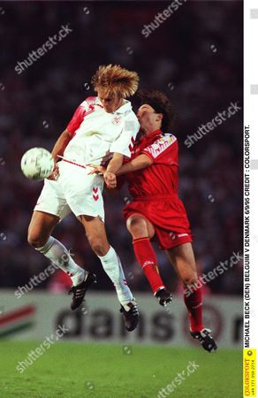 MICHAEL BECK (DEN) BELGUIM V DENMARK 6/9/95 Belgium Brussels Euro1996 Qual: Belgium 1 Denmark 2