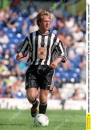 WARREN BARTON (NEWC) BIRMINGHAM CITY V NEWCASTLE UNITED 19/07/1997 FOOTBALL 1997/98 Great Britain Birmingham Birmingham v Newcastle