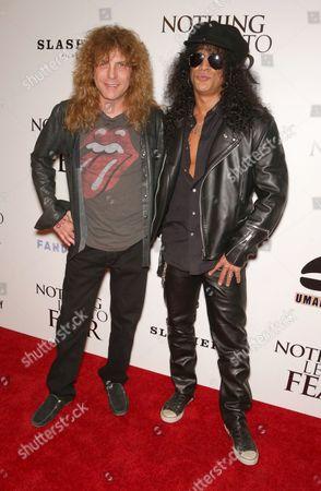 Stock Picture of Steven Adler and Slash