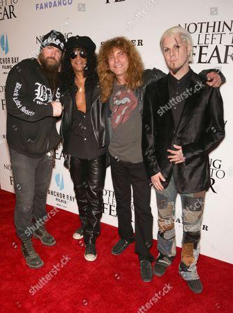 Zakk Wylde, Slash, Steven Adler and John Five