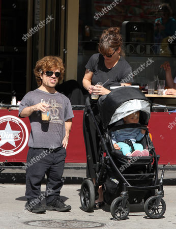 Peter Dinklage with his wife Erica Schmidt and their daughter Zelig