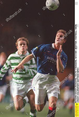 RICHARD GOUGH (RANGERS) CELTIC V RANGERS 19/11/1997 SCOTTISH FOOTBALL 1997/8 Great Britain Glasgow