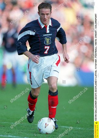 KEVIN GALLACHER (SCOT) SCOTLAND V LATVIA 11/10/1997 FOOTBALL 1997/8 Great Britain Glasgow